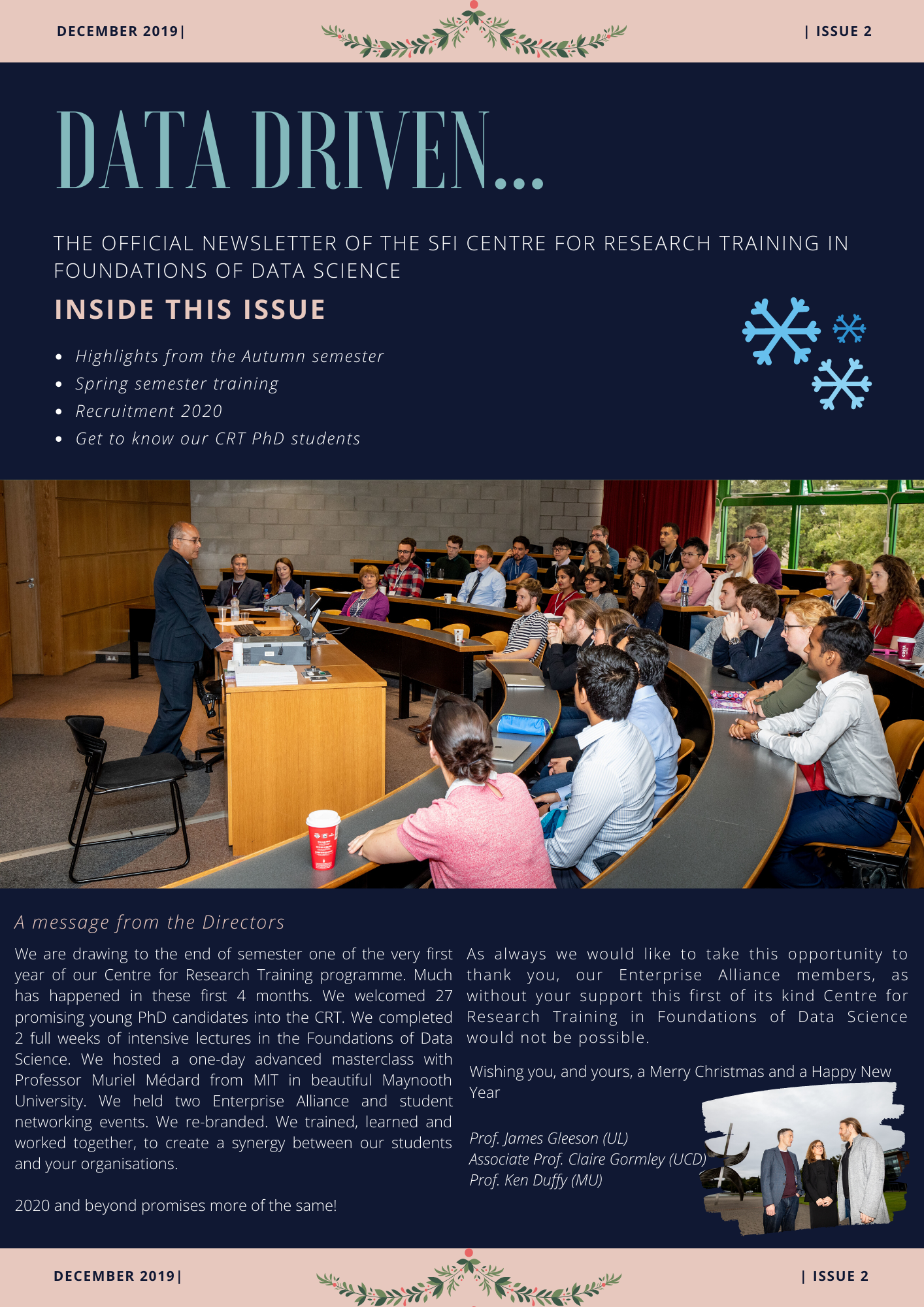 Centre for Research Training in Foundations of Data Science Issue 2 2019
