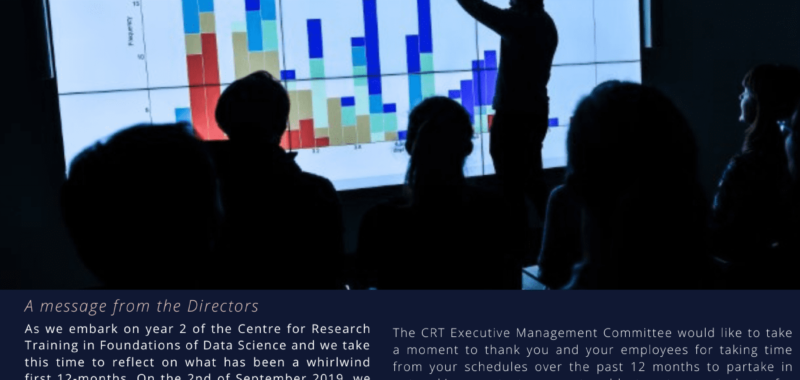 SFI Centre for Research Training in Foundations of Data Science Newsletter Issue 4 2020